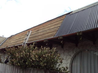 Replacing tile roof with colour steel