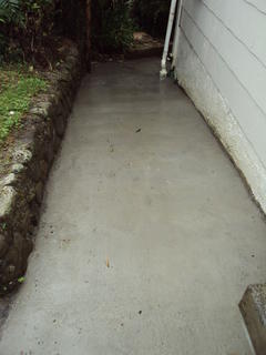 Re-concreting paths after replacing drains